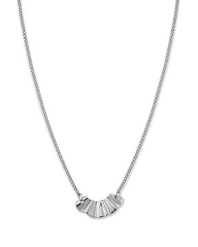 Foto de Rj liquid waved necklace landscape silver