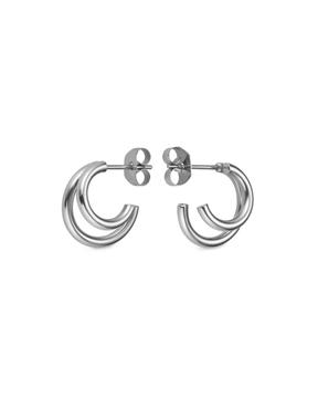 Foto de Rj double hoop small earring silver