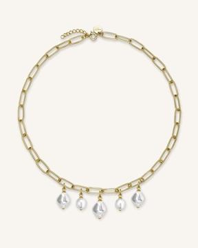 Foto de Rj liquid multi pearl chain necklace