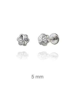 Foto de Dormilón de plata flor tallada 5mm