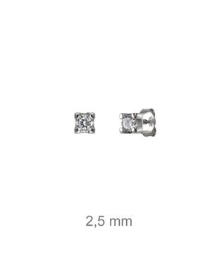 Foto de Pendientes de plata garra circonita