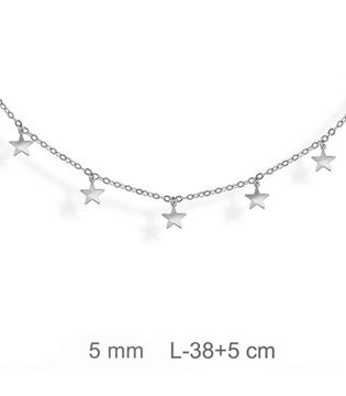 Foto de Gargantilla de plata con estrellas