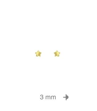 Foto de Dormilón de plata bañada 18K mini estrella