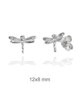 Foto de Pendientes de plata libélula