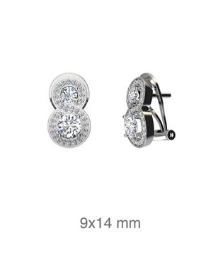 Foto de Pendientes de plata con circonitas y cierre omega