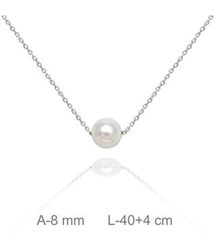 Foto de Gargantilla de plata con perla